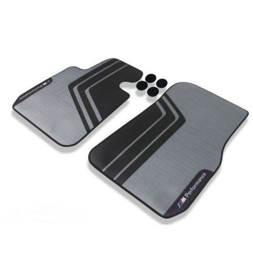Genuine Front Performance Carpeted Gray Floor Mats Set for BMW E82 F22 F23 F87
