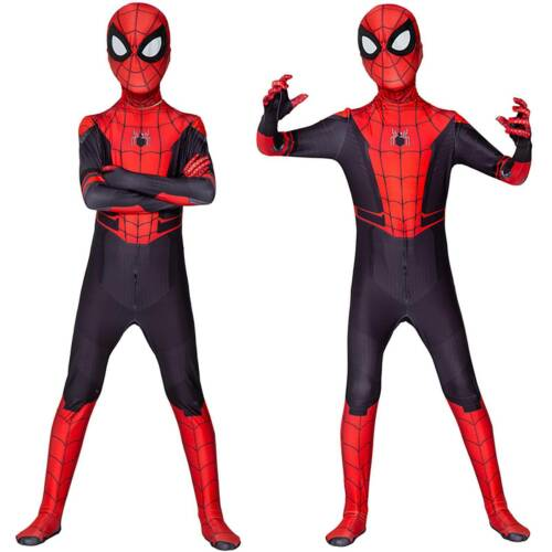 Kids Adult Spider-Man Far From Home Spiderman Zentai Cosplay Costume Fancy Dress
