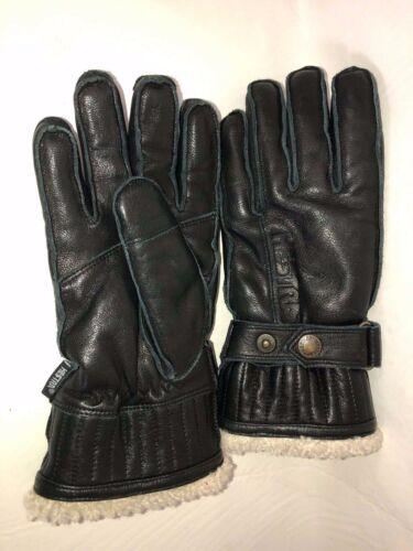 Hestra Men's Size 8 Black Elk Leather Lamb Fur Lin