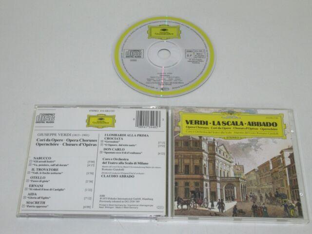 Verdi / la Scala / Abbado (Dg 413 448-2) CD Álbum