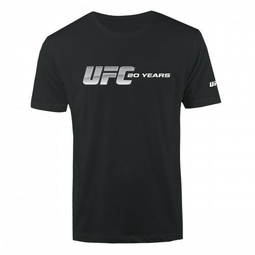 Blk 20 Years Logo T-Shirt UFC 20th Anniversary Collection Men/'s Sz S-2XL NWT