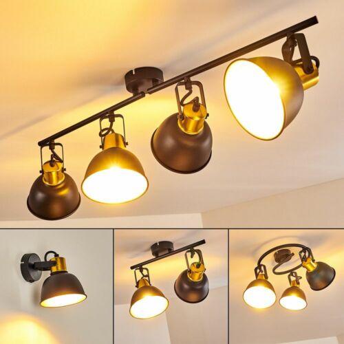 Retro Decken Leuchten Flur Dielen Strahler Wohn Schlaf Zimmer Lampe Schwarz//Gold