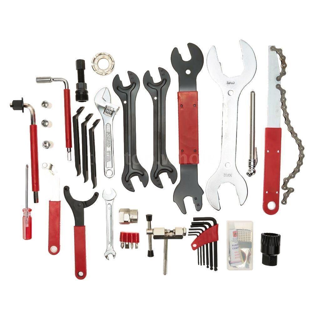Bicicleta Completa  Universal 46Pcs Kit de herramientas de reparación Juego Caja Llave de Válvula  Seleccione de las marcas más nuevas como