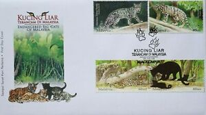 Malaysia FDC with Stamps (23.12.2013) - Endangered Big Cats