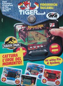 Pubblicita-Advertising-Werbung-Italian-1993-VIDEOGIOCHI-TIGER-JURASSIC-PARK