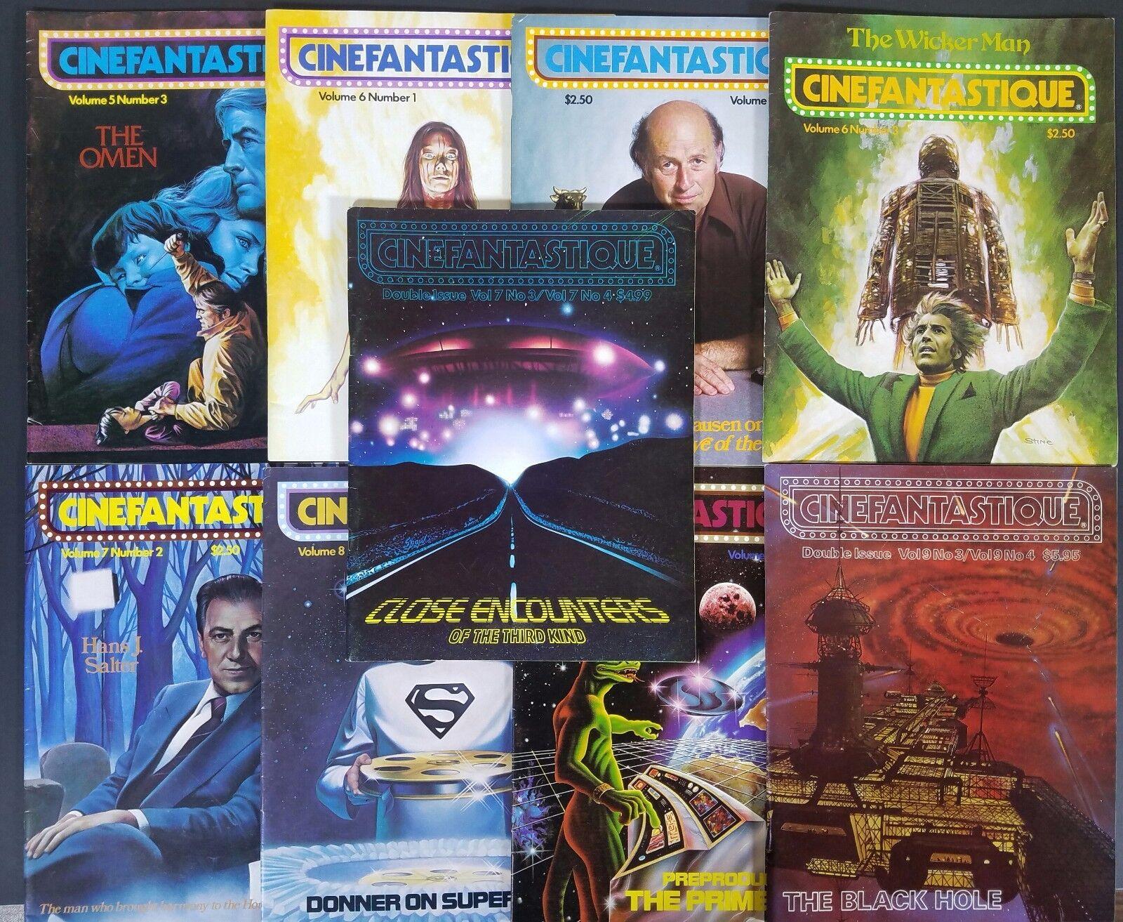 Cinefantastique Magazine Lot- Vol.5  3, V.6  1-3, V.7  2-3, V.8  1&4, V. 9  3/4