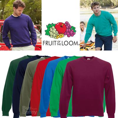Aufrichtig Fruit Of The Loom Mens Raglan Sweatshirt Plain Sweat Casual S-2xl 13 Colours New Hindernis Entfernen
