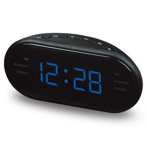 Electronic-Digital-Alarme-Horloge-DEL-Dual-AM-FM-Radio-Snooze-Sleep-Timer-Tuning