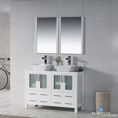 Blossom 48 Quot Sydney Double Sink Bathroom Vanity With Vessel