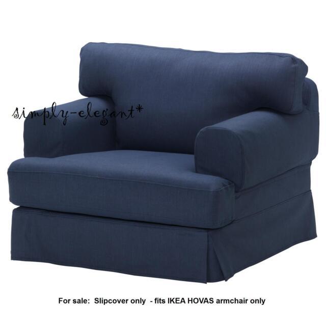 IKEA Hovas Chair Slipcover Armchair Cover Kallvik Dark Blue