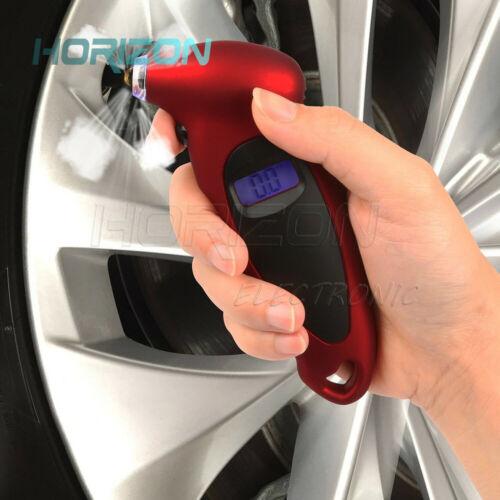 Presión De Los Neumáticos Calibrador Digital Coche Camión Bicicleta Auto Air Psi Cojinete Probador Neumático