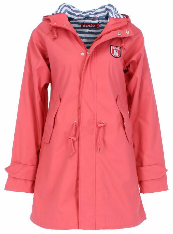 Derbe Derbe Derbe Hamburg Travel Friese Striped Women's Rain Coat c10f86