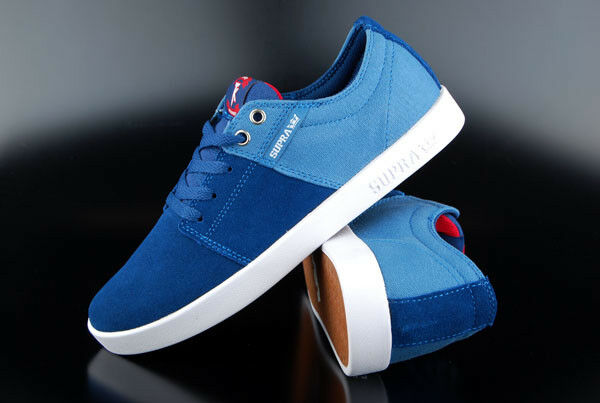 Scarpe Supra Stacks Blue Burgundy White us11, 5/eu45,5  Scarpe Skater