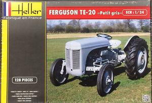 2016 Heller Models 81401 1/24 - Ferguson TE20 Petit Gris Tractor Model Kit new