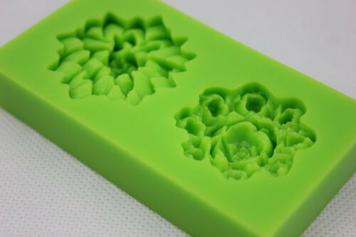 Water Lily /& Rose Flower Silicone Mould Cake Icing Chocolate Baking SELLER C