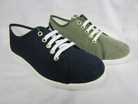 Easy B Anthea Navy Or Khaki Wide Fitting Canvas Shoes
