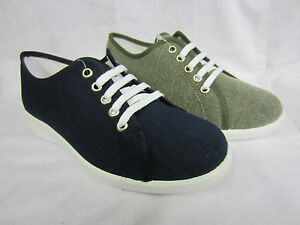 Khaki Wide Fitting Canvas Shoes