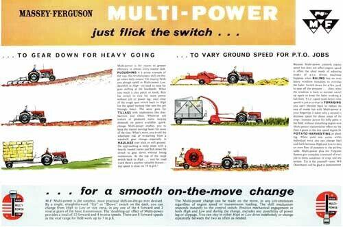 Vintage Massey Ferguson Multi Power Guide SALES BROCHURE//POSTER ADVERT A3