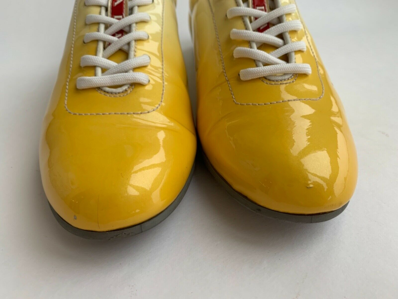 Prada Prada Prada Yellow Leather Ombre Sneakers Trainers 777302