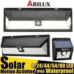 ARILUX-8-80-LED-Solaire-etanche-Detecteur-Mouvement-Applique-Murale-Lampe-Jardin