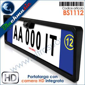 BlackMusic-Portatarga-con-telecamera-HD-regolabile-integrata-Retrocamera-CCD