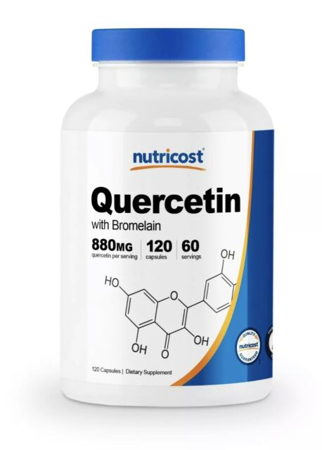 Nutricost Quercetin 880mg, 120 Veggie Capsules With Bromelain - 60 Servings