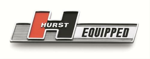 "Trans Am Hurst Equipped Emblem Badge Chrome//Red//Black 5/"" x 1.25/"""
