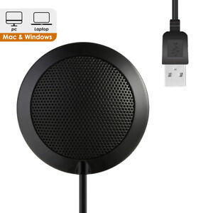 Consumer Electronics Portable Usb Condenser Table Computer Conference Omnidirectional Microphone Touch Control Latest Fashion Live Equipment