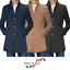 Cappotto-Uomo-Elegante-Giubbotto-Invernale-Blu-Camel-Trench-Lungo miniatura 1