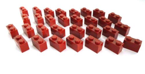 Basic briques 1x2 rien Bordeaux Rouge Nouveau. 30 x LEGO ® 3004 Friends