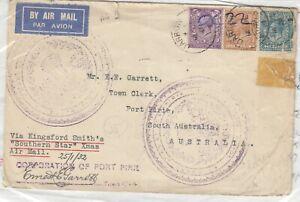 GB-1932-Airmail-Cover-To-Australia-Via-Kingsford-Smith-Southern-Star-Xmas-J8257