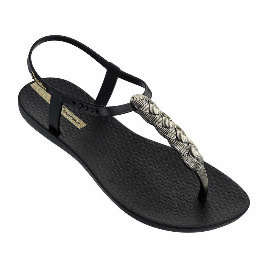 Ipanema Charm Braid Black Sandal