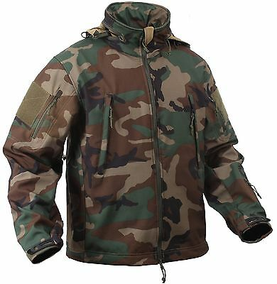 Special OPS Tactical Soft Shell Jacket w Waterproof Shell
