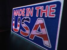 High Quality Indooroutdoor Full Color Dip Led Sign 38 X 113 10mm Made In Usa