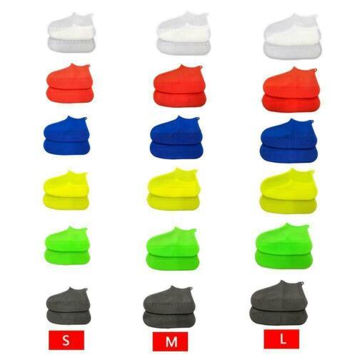 1 Pair Reusable Latex Waterproof Shoe Covers Slip-Resistant Rubber Rain Boo Y3B5