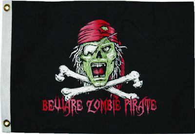 "12x18 Keep the Peace Pirate Guns Flag 12/""X18/"" DOUBLE SIDED NYLON BOAT Flag"