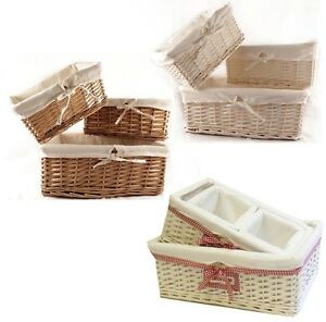 WICKER WILLOW STORAGE BASKETS LINING XMAS GIFT MAKE YOUR OWN ...