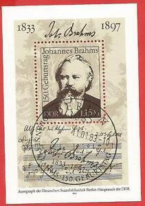 Johannes-Brahms-150-Geburtstag-Komponist-Musik-DDR-Block-69-Ersttagssonderstemp
