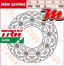 Disque de frein Avant TRW Lucas MSW 224 RAC pour Yamaha XV 535 Virago VJ01 99-03