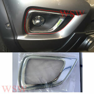 NEW CHROME FOG LIGHT COVER LAMP TRIM FOR NISSAN NAVARA NP300 2014 2015 16 PICKUP Car & Truck Parts Auto Parts & Accessories