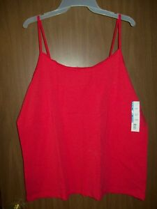 8408711887e6f NEW WOMEN S TIME   TRU SCOOP NECK FITTED CAMI TANK TOP SZ 3XL RED ...