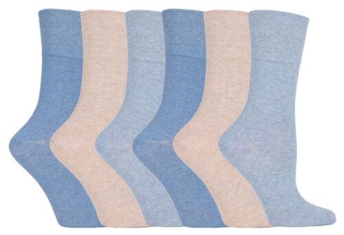 6 Pairs 12 Pairs  Ladies Sockshop Cotton Gentle Grip Socks 4-8 uk 37-42 eur