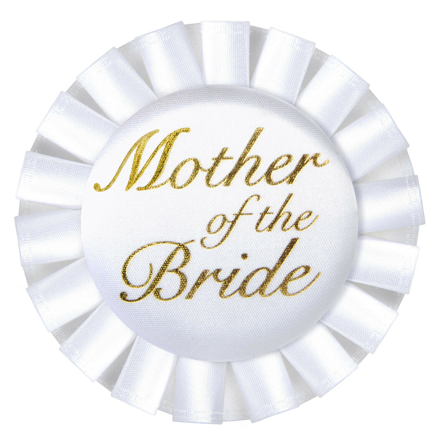 (12) Mother Of The Bride Satin Button