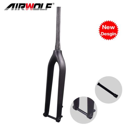 carbon mountain bike rigid tapered fork 29er 1-1//8 to 1-1//2 3K matte glossy