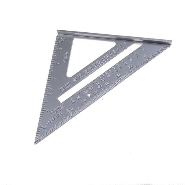 """Alloy Speed Square 7"""" Combination Protractor Miters Framing Measurings Tools WO"""
