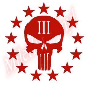 Punisher-3-Three-Percenter-Window-Glass-Vinyl-Decal-Sticker-Gun-Rights