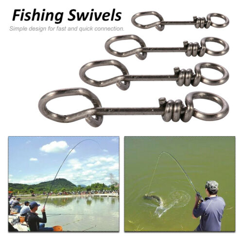 50Pcs Fishing Duo-lock Snap Swivel Fast Clip Nice Fast lock Snaps Connector