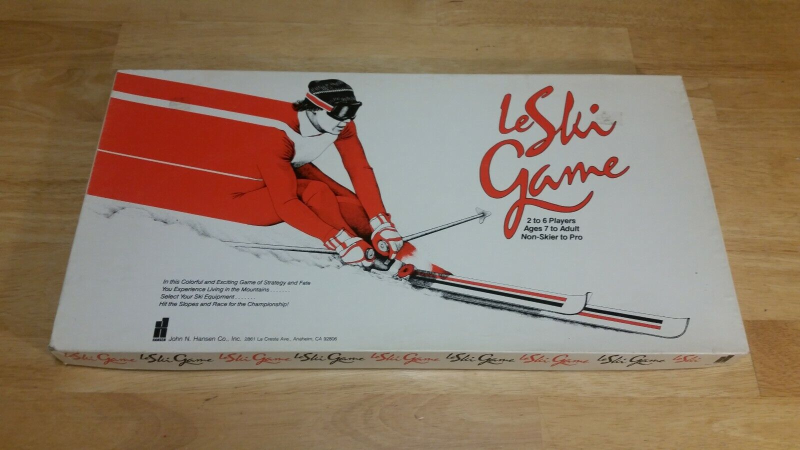 Le Ski Game H123 Board Game John N. Hansen - RARE