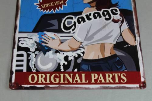 environ 0,5 kg Premium Garage Orig 40x30 cm. Vintage Pin-up tôle bouclier Parts