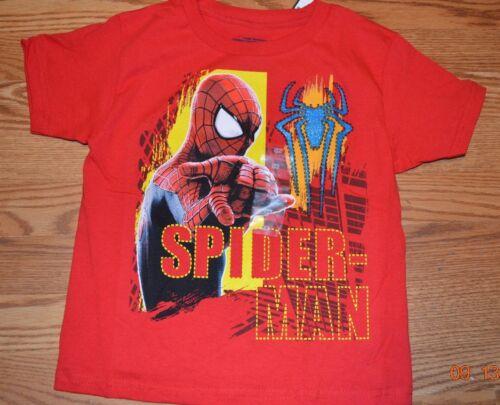 Boys Shirts Spiderman NWT Marvel sizes 5//6 and 7 clothing tops T-shirts cartoon